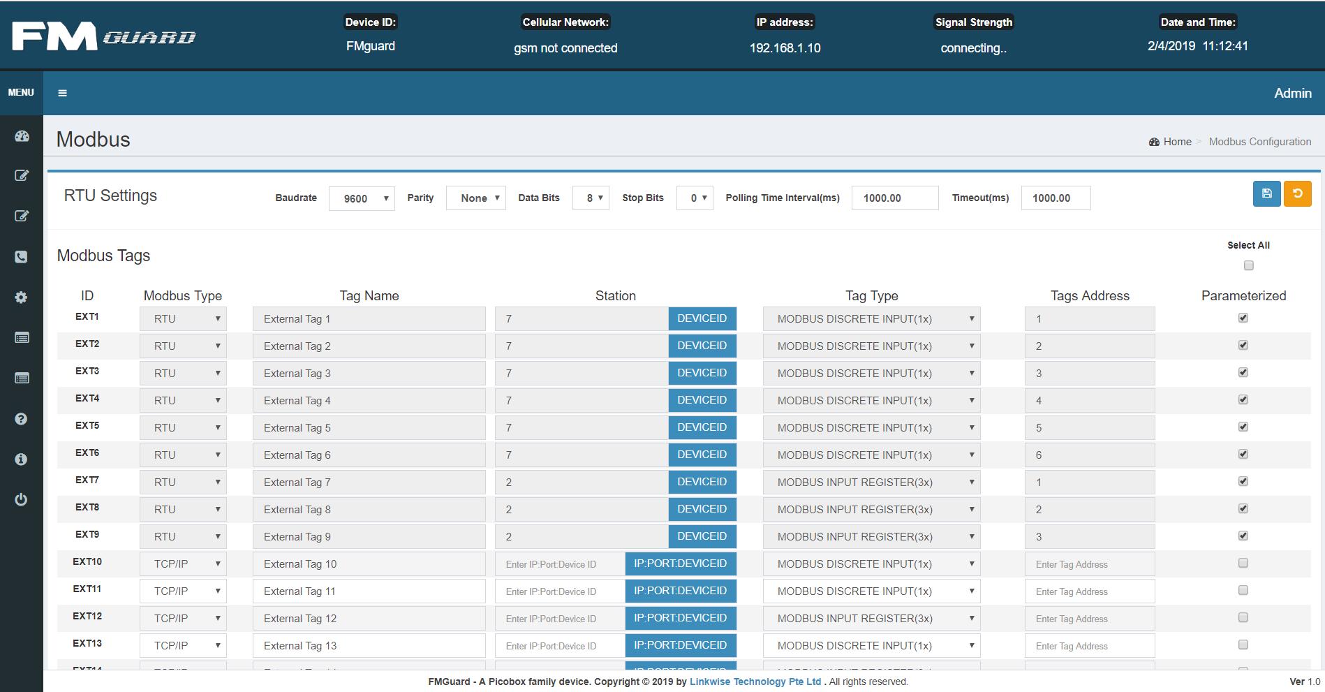 Facility Monitoring System FMguard UI