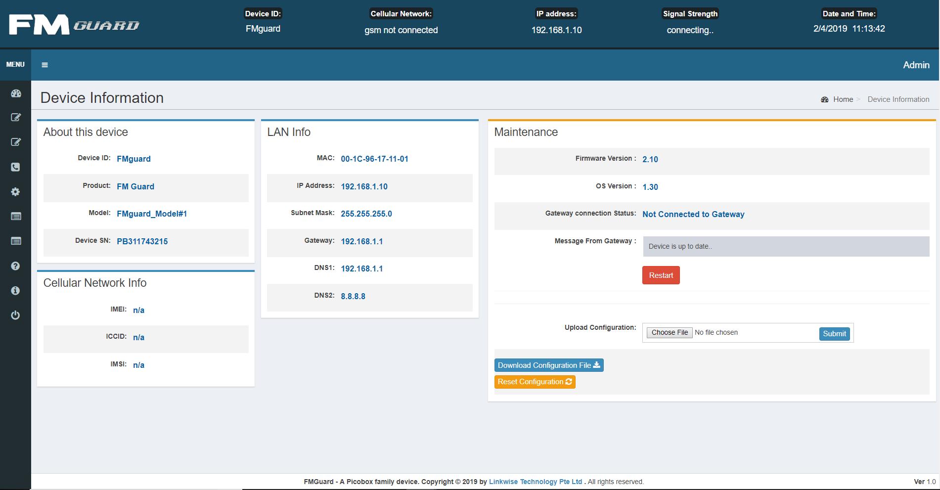 Linkwise Tech Picobox FMG UI